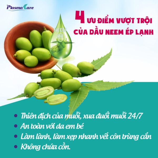 Xịt chống muỗi PlasmaKare chứa dầu Neem organic ép lạnh 1