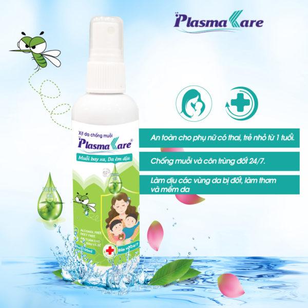 Xịt chống muỗi PlasmaKare giúp xua đuổi muỗi và côn trùng 1