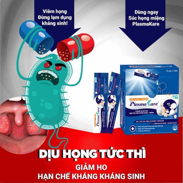 Súc họng miệng PlasmaKare dạng túi - Giải pháp tại chỗ cho bệnh hô hấp 1