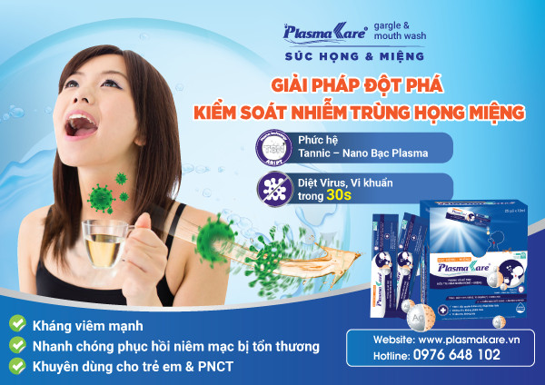 Súc họng miệng PlasmaKare dạng túi kháng vi khuẩn, virus gây bệnh đường hô hấp 1