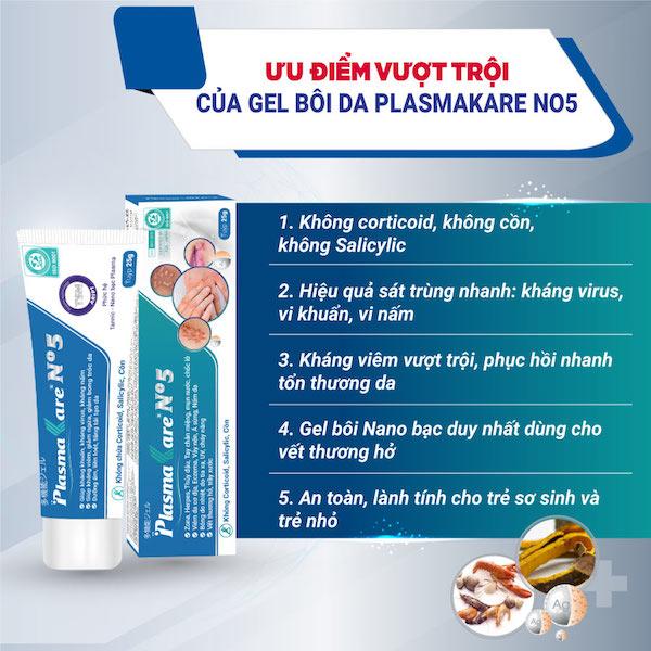 Một số lưu ý khi sử dụng gel bôi da PlasmaKare No5 1